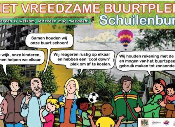 Veilig spelen op het Vreedzame buurtplein Schuilenburg vanaf 11 mei 2020